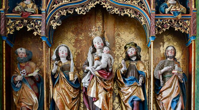 Der gotische Flügelaltar in der Pfarrkirche s. Gions, Disentis